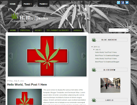 Hi Marijuana Blogger Theme