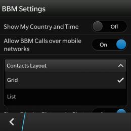 Screenshoot mengganti tampilan menu kontak dengan list