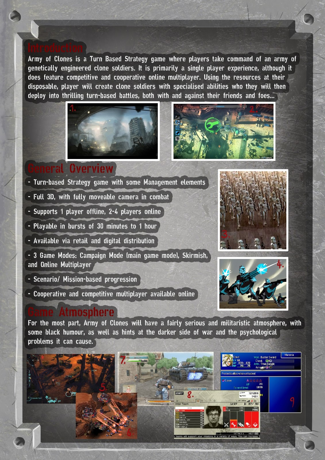 SeanGannonBAGDY XB GAMES FUTURES Design Post Concept - Game concept document
