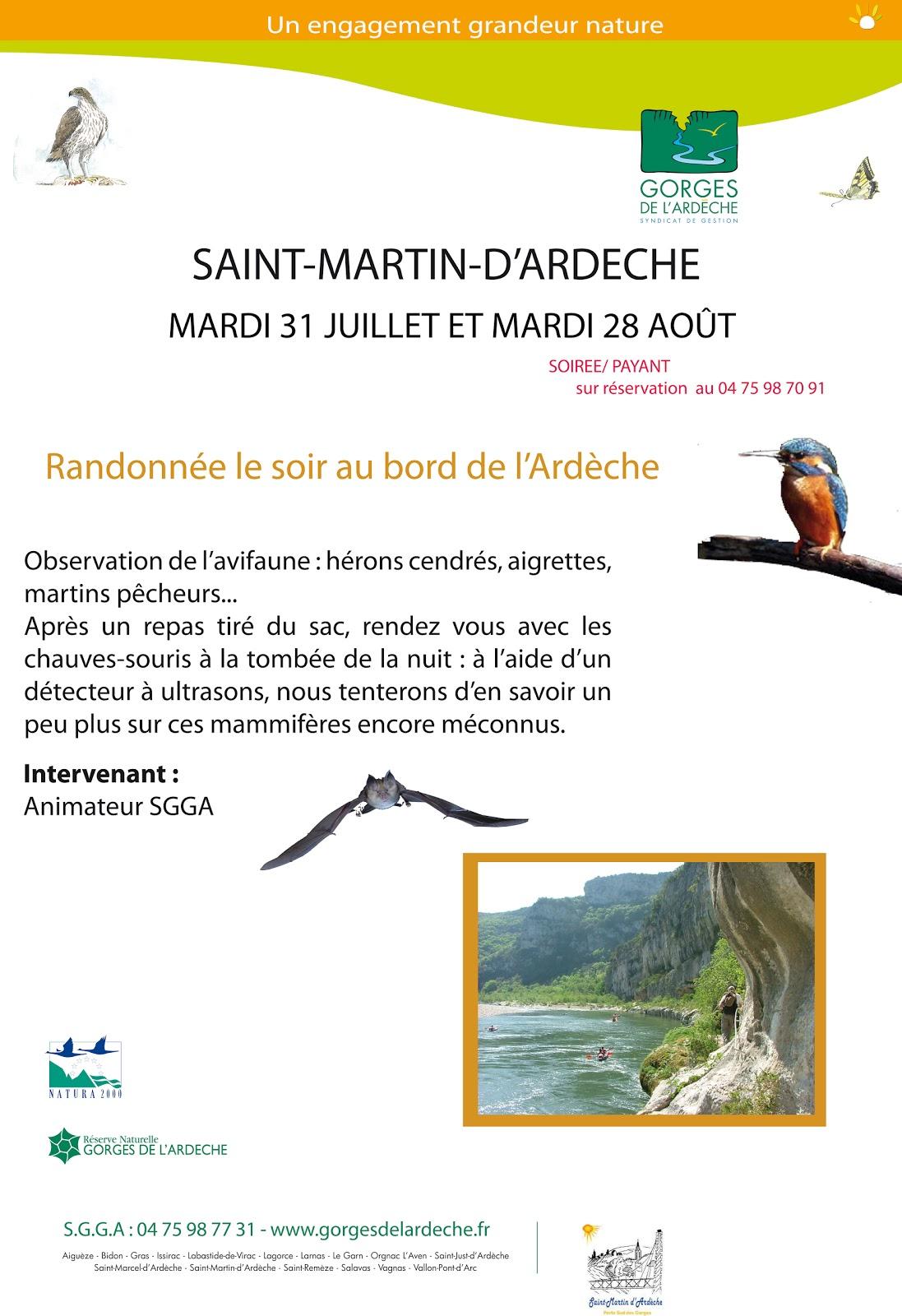 Syndicat de gestion des gorges de l 39 ard che saint martin - Office de tourisme saint martin d ardeche ...
