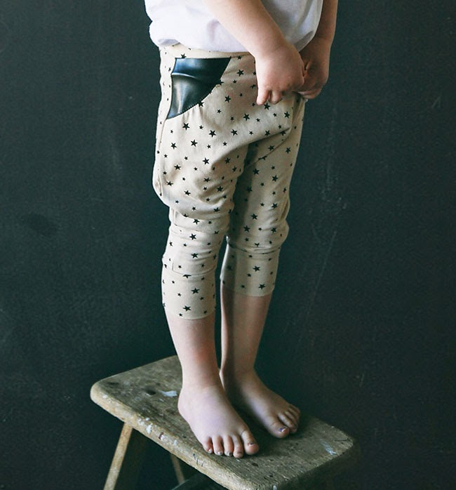 faux leather detail by Kindred OAK for spring 2014 kids fashion collection