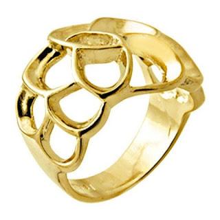 anel folheado