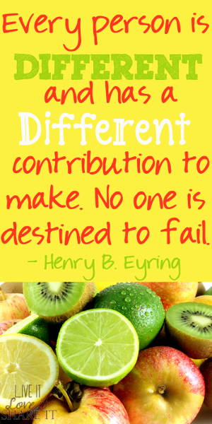 Every person is different and has a different contribution to make. No one is destined to fail. - Henry B. Eyring