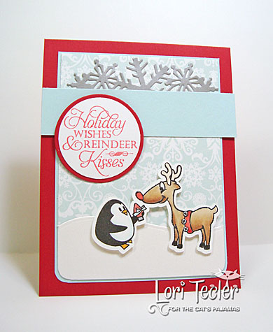 Reindeer Kisses card-designed by Lori Tecler/Inking Aloud-stamps and dies from The Cat's Pajamas