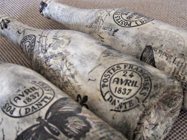 ekologiczne wazony z butelek decoupage eco manufaktura rękodzieło