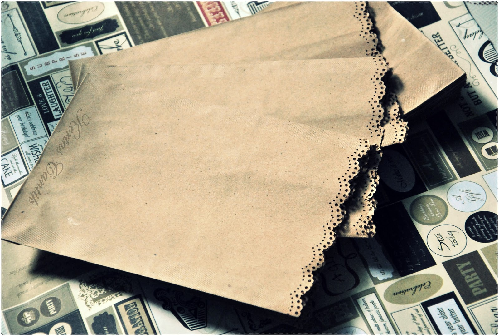 Doilies Brown Paper Bag