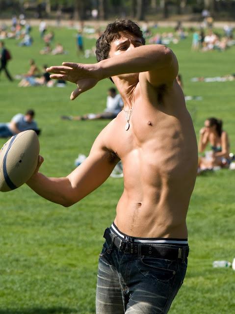 nude couple nipple play