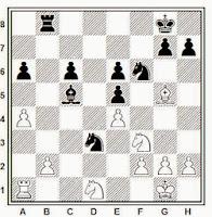 1936, partida de ajedrez Amadeu Morera – Ángel Ribera, posición después de 23…Tb8!