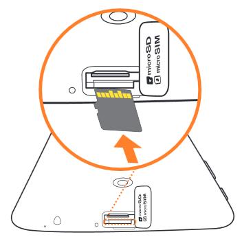 inserting a microSD card