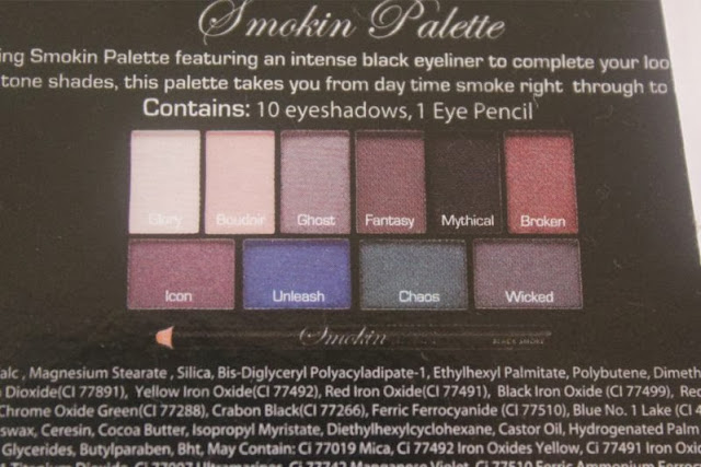 MUA Smokin' Palette