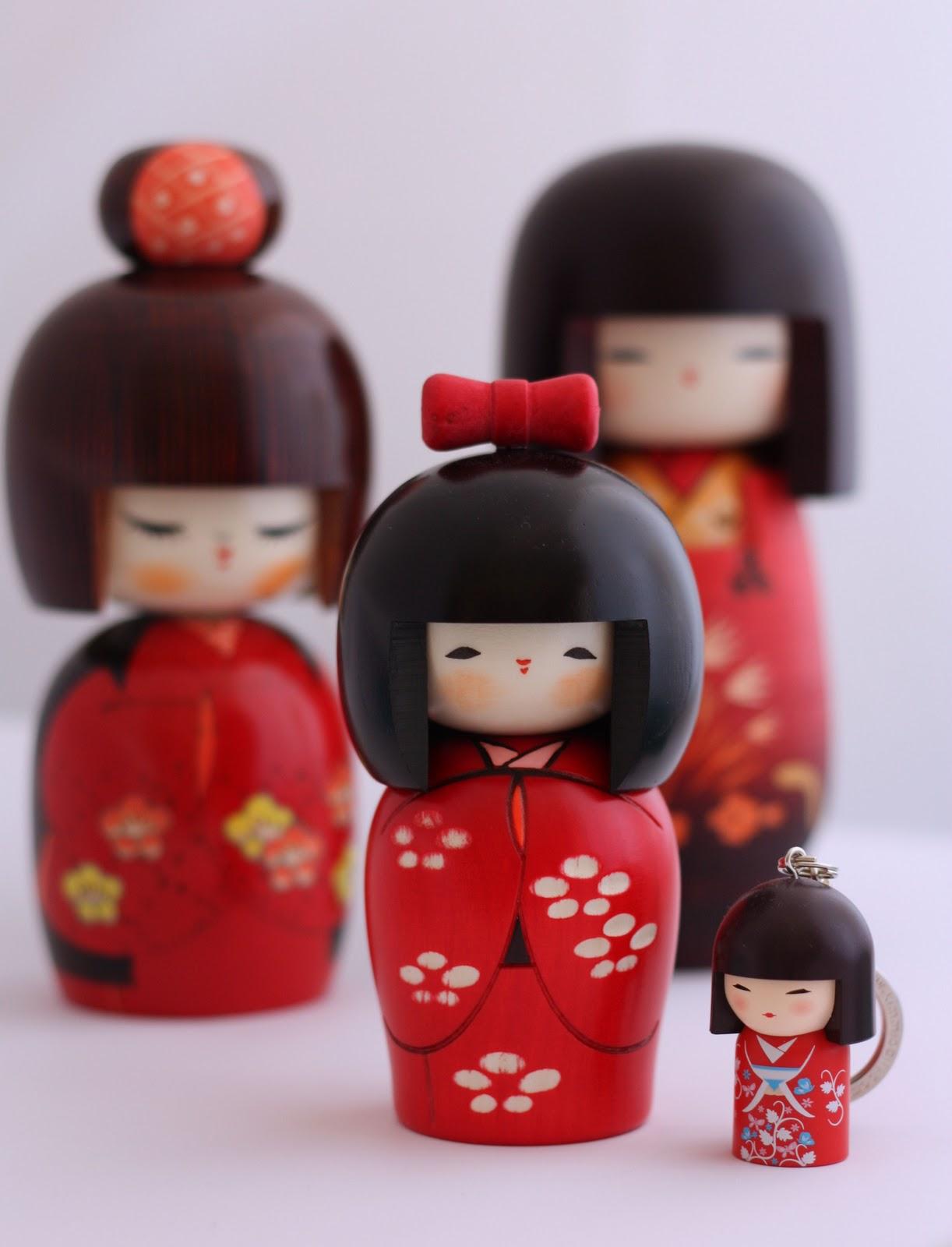 Charming Spring Festivities Japanese Kokeshi Doll