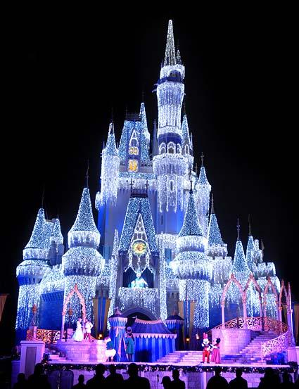 Natal Disney Magic Kingdom Castelo