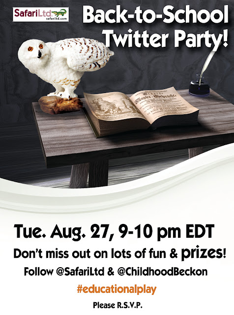 Back to School Twitter Party with Safari Ltd.