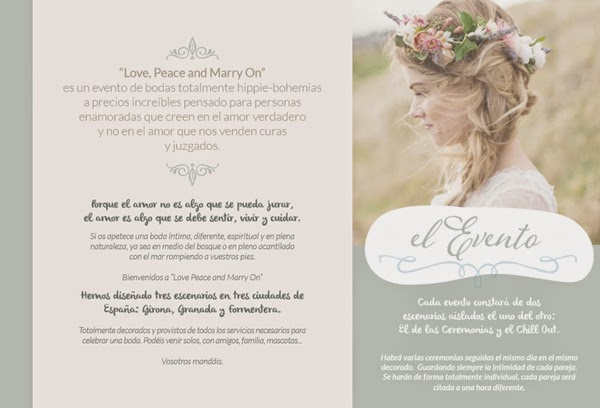 ¿Te atreves con una boda \u0026quot;Love, peace and marry on\u0026quot;?
