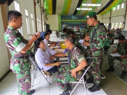 Meriahkan Acara HUT Fatayat NU, Kodim 0710/Pekalongan Sumbang Darah