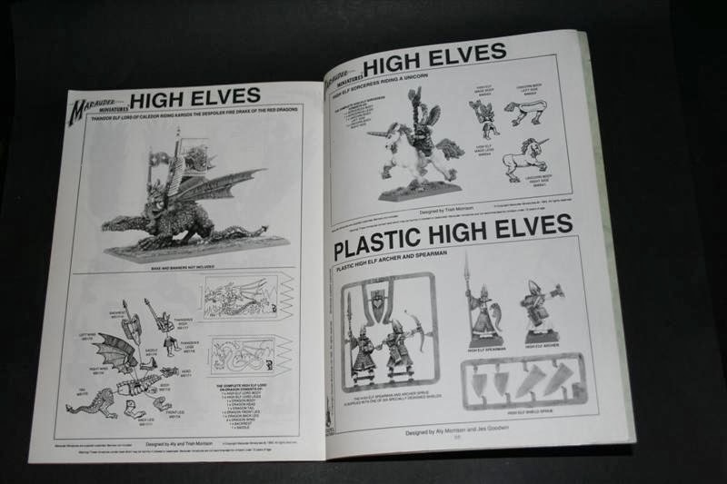 Catálogo de Altos Elfos en Warhammer Armies: High Elves