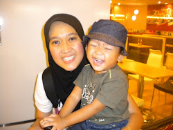 My lovely wife and son