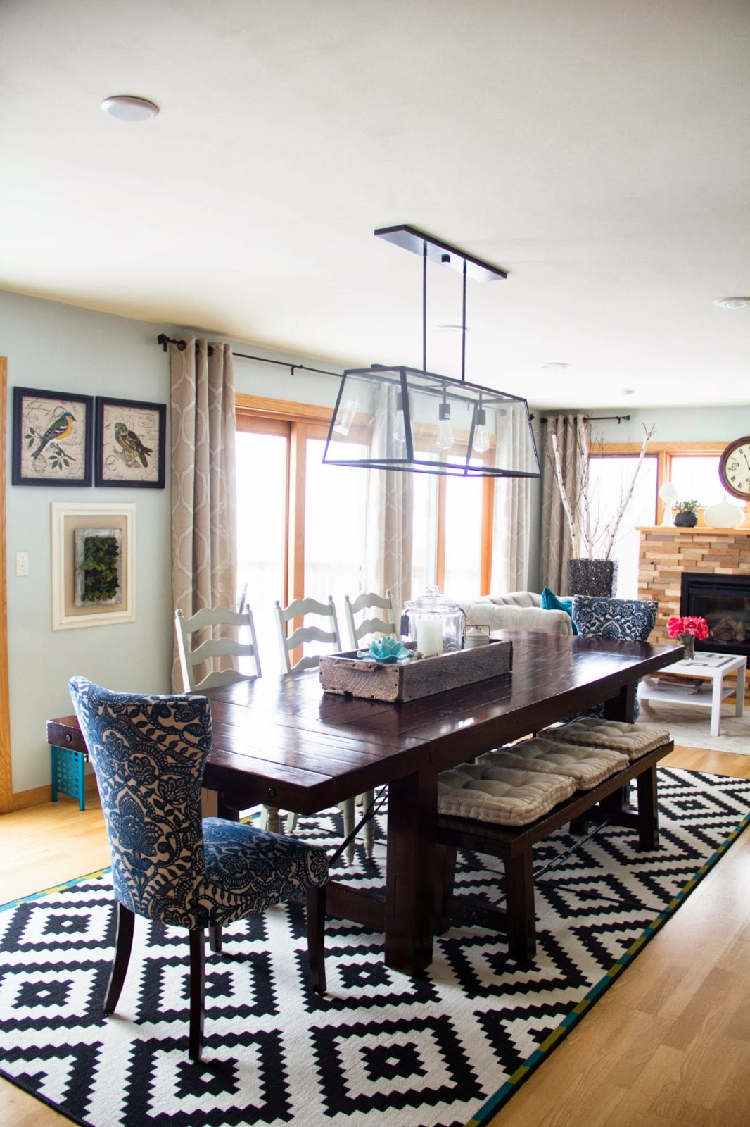 Awesome Living Spaces Dining Room Frieze - Living Room Design Ideas ...