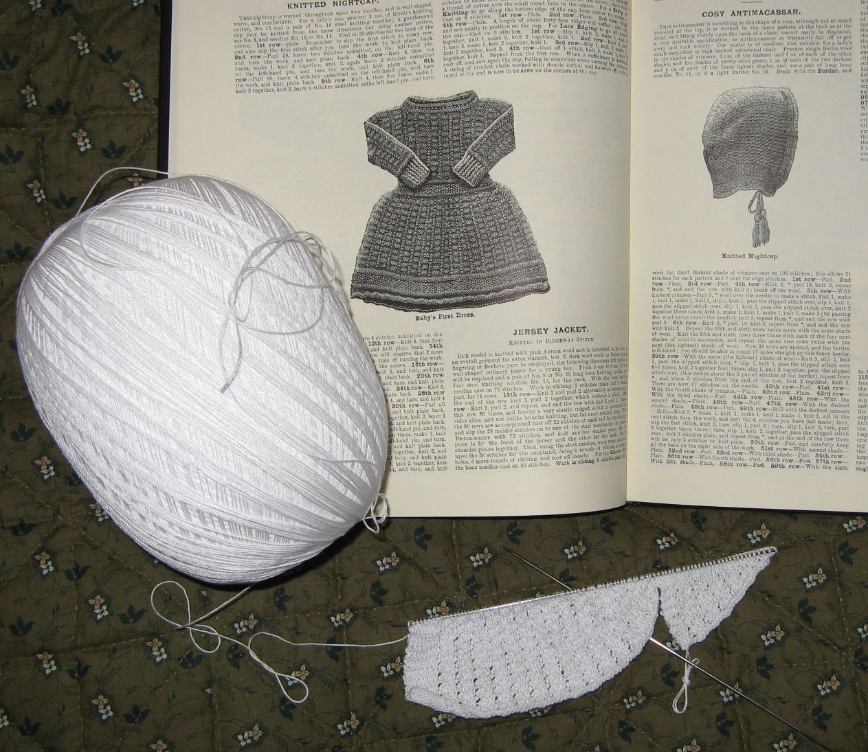 Easy Scarf Patterns To Knit : One More Stitch: Knitted Nightcap from Weldon s