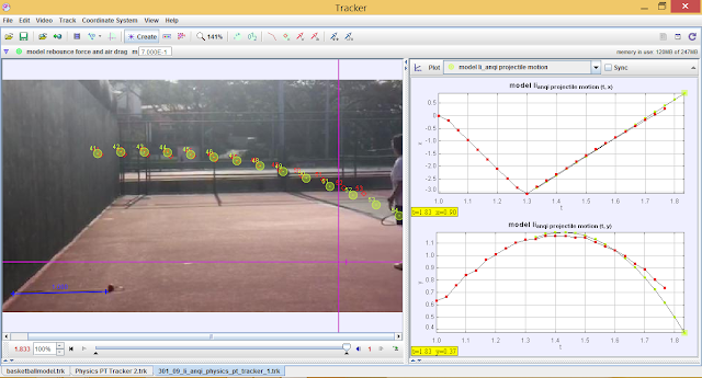 tennis ball projectile motion