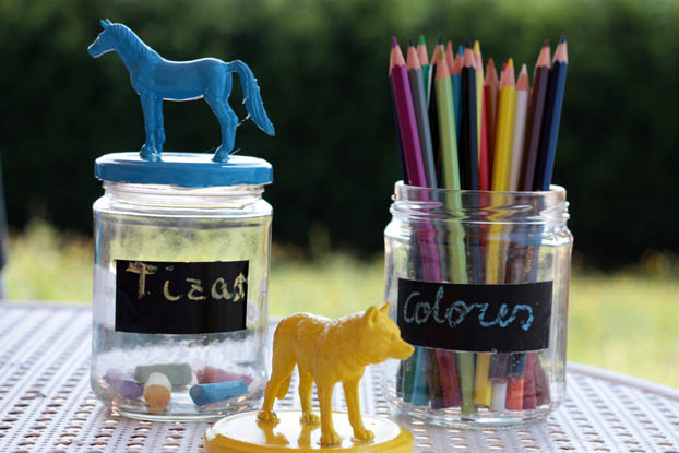 Reciclar botes de cristal y peque os juguetes comparte - Comprar tarros de cristal pequenos ...