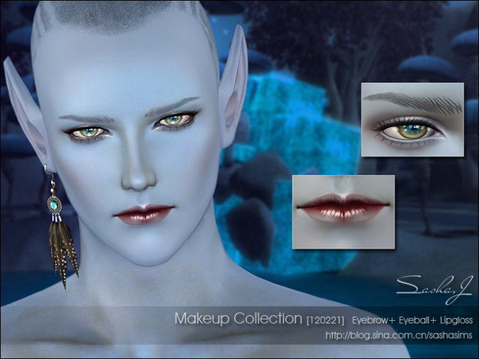 My Sims 3 Blog Make Up A Non Replacement Eyes Eyebrows Lip