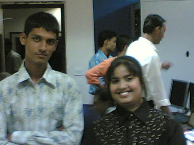 Anshu Dikshant with Bhojpuri Singer Devi