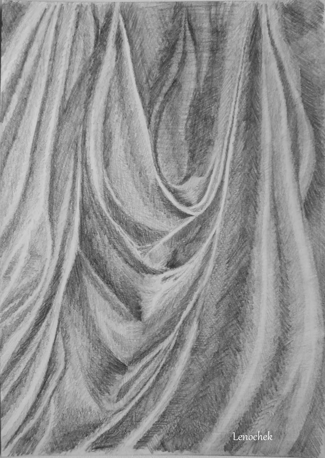 Рисую по урокам... 4,Ткань