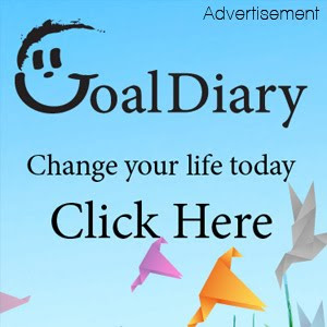 Advertisement for Goal Diary