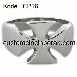 Cincin Perak Pria Kode CP16