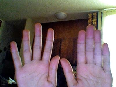 Truco para multiplicar en la tabla del 9 con las manos