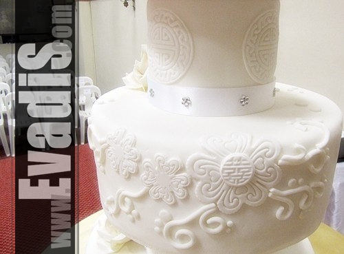 Pictures of White Wedding Cake - 2nd Tier