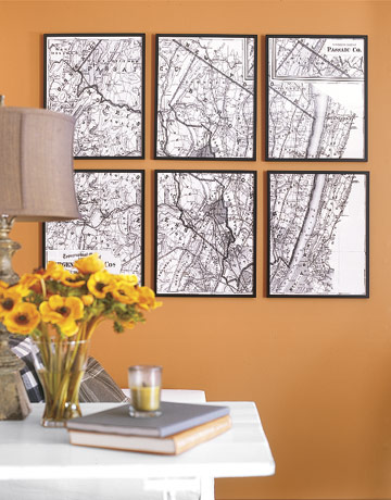house of mood decorating with maps
