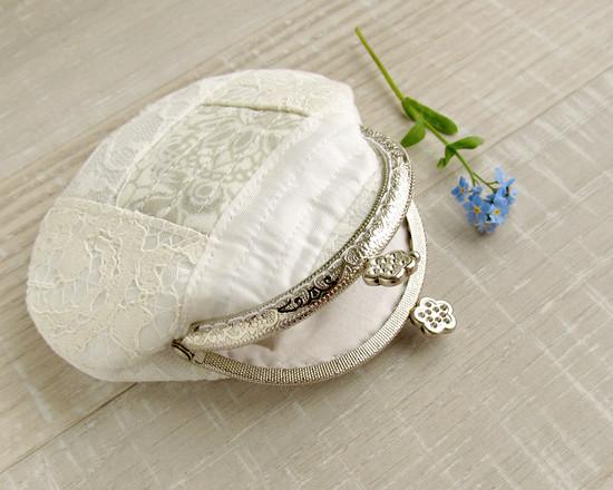 Coin purse, белый кружевной кошелек
