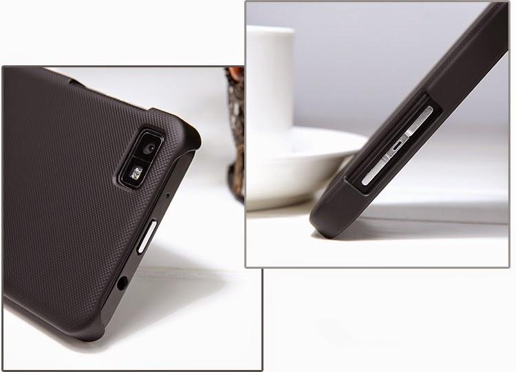 NILLKIN-Super-Frosted-Shield-Hard-Case-Cover-BlackBerry-Z10-BB-10-Screen-Protector-Black