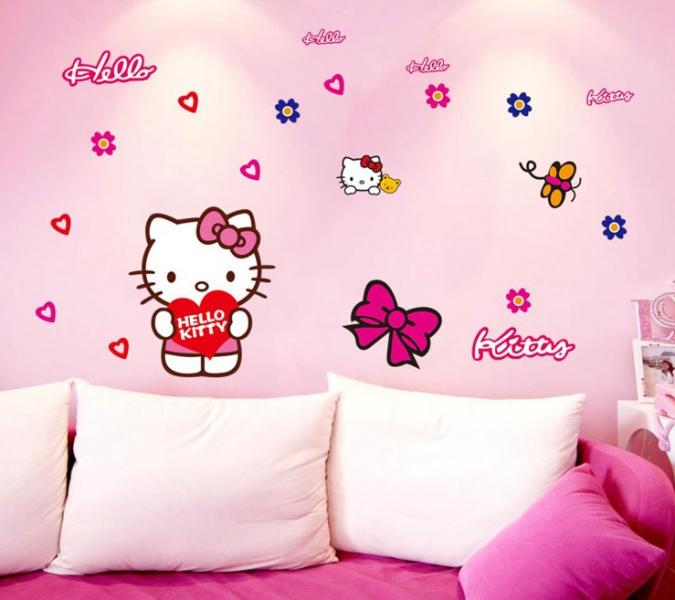 Desain wallpaper dinding hello kitty