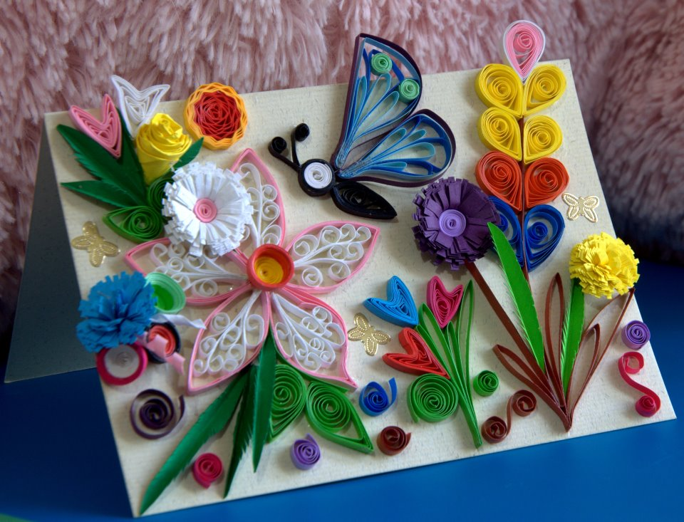Beautiful butterfly paper quilling designs creative art for Creative craft ideas with paper