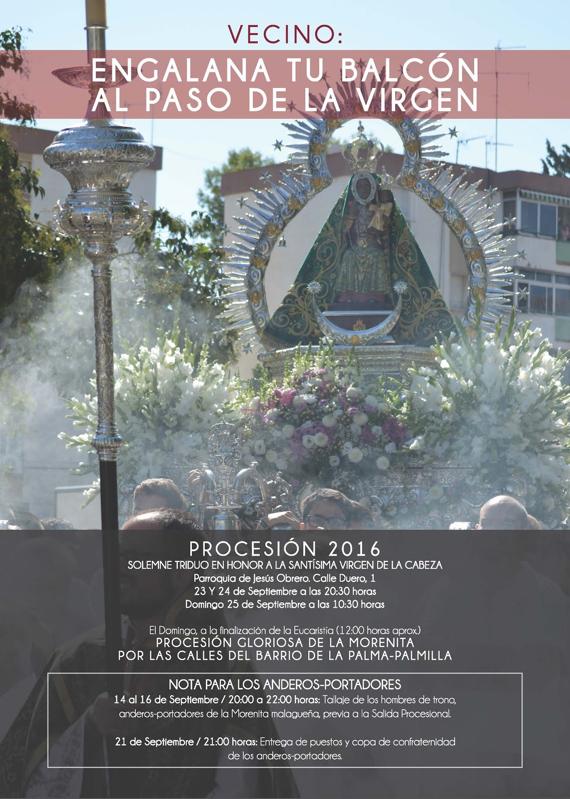 Programa Oficial de Actos y Cultos PROCESIÓN 2016.