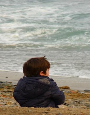 public domain image child and sea