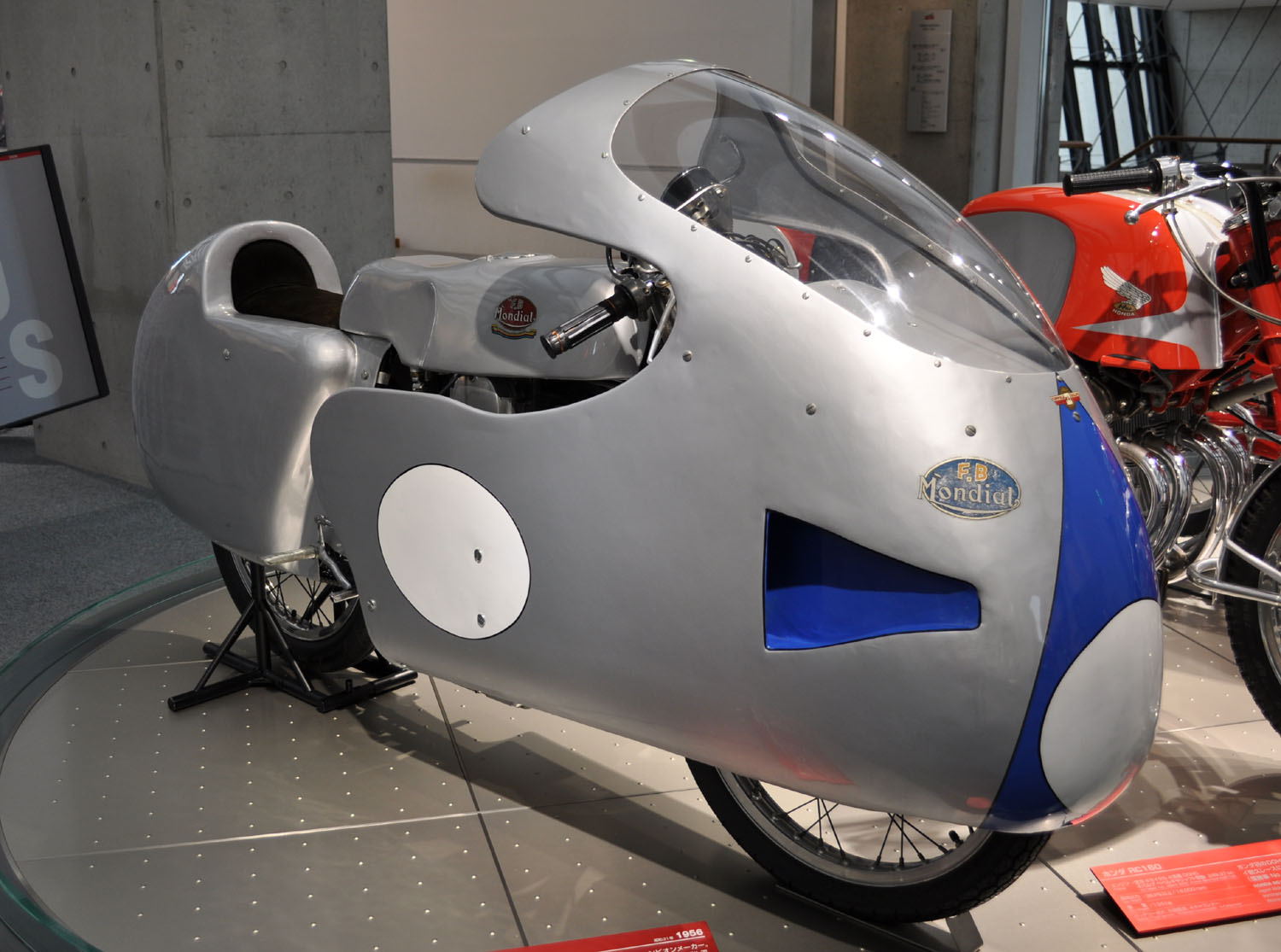 Mondial 125 GP in the Honda Collection Hall, Motegi