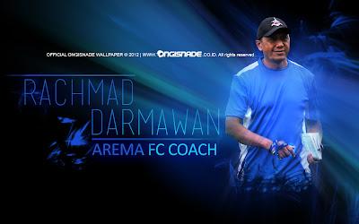Wallpaper Coach RD Rahmat Damawan Arema Malang Indonesia ISL Edisi 11 Februari 2013