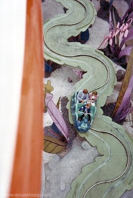Skyway Alice Disneyland Wonderland original Fantasyland leaves