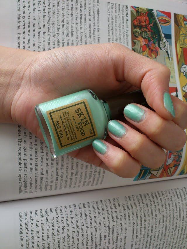 Skinfood Nail Vita BL 509 Apple Milk Review   Cat Mango