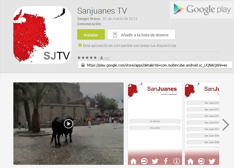 Sanjuanes TV en Google Play