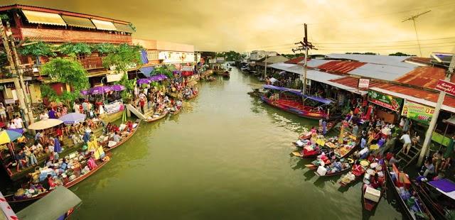 marché flottant d'amphawa