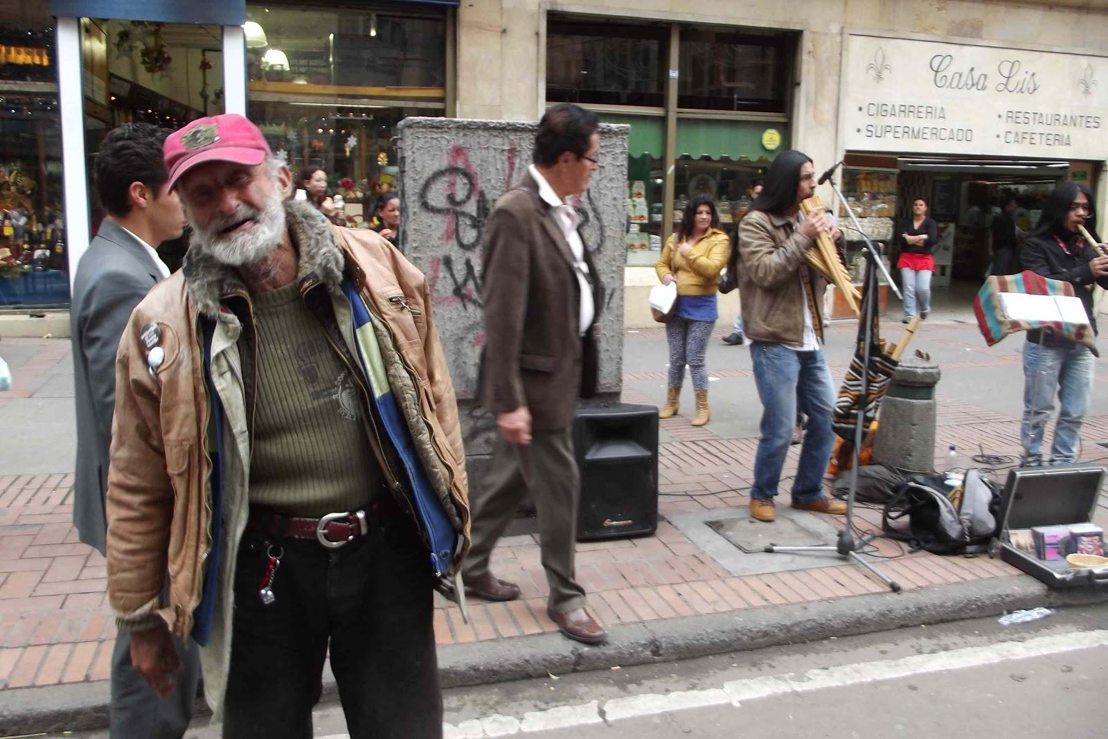 Happy homeless guy