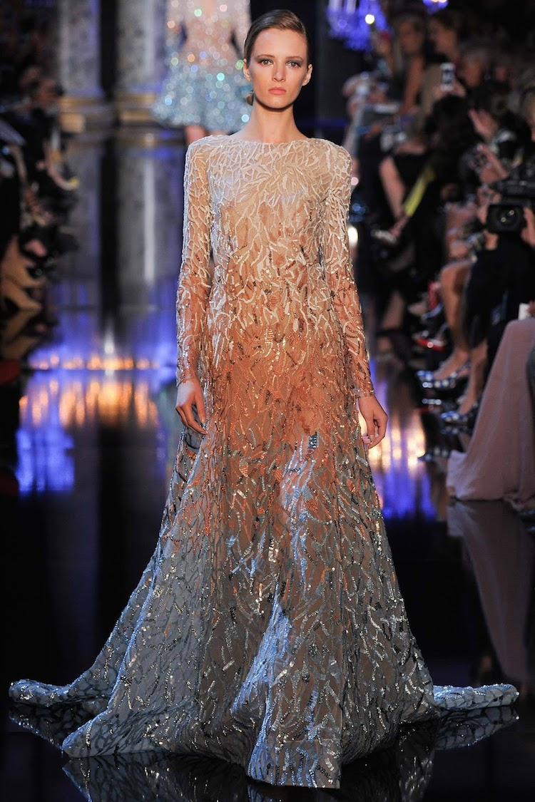 Elie saab haute couture collection fw 2014 the big brown for Haute couture collection
