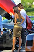 Kim Kardashian checking out the new machine