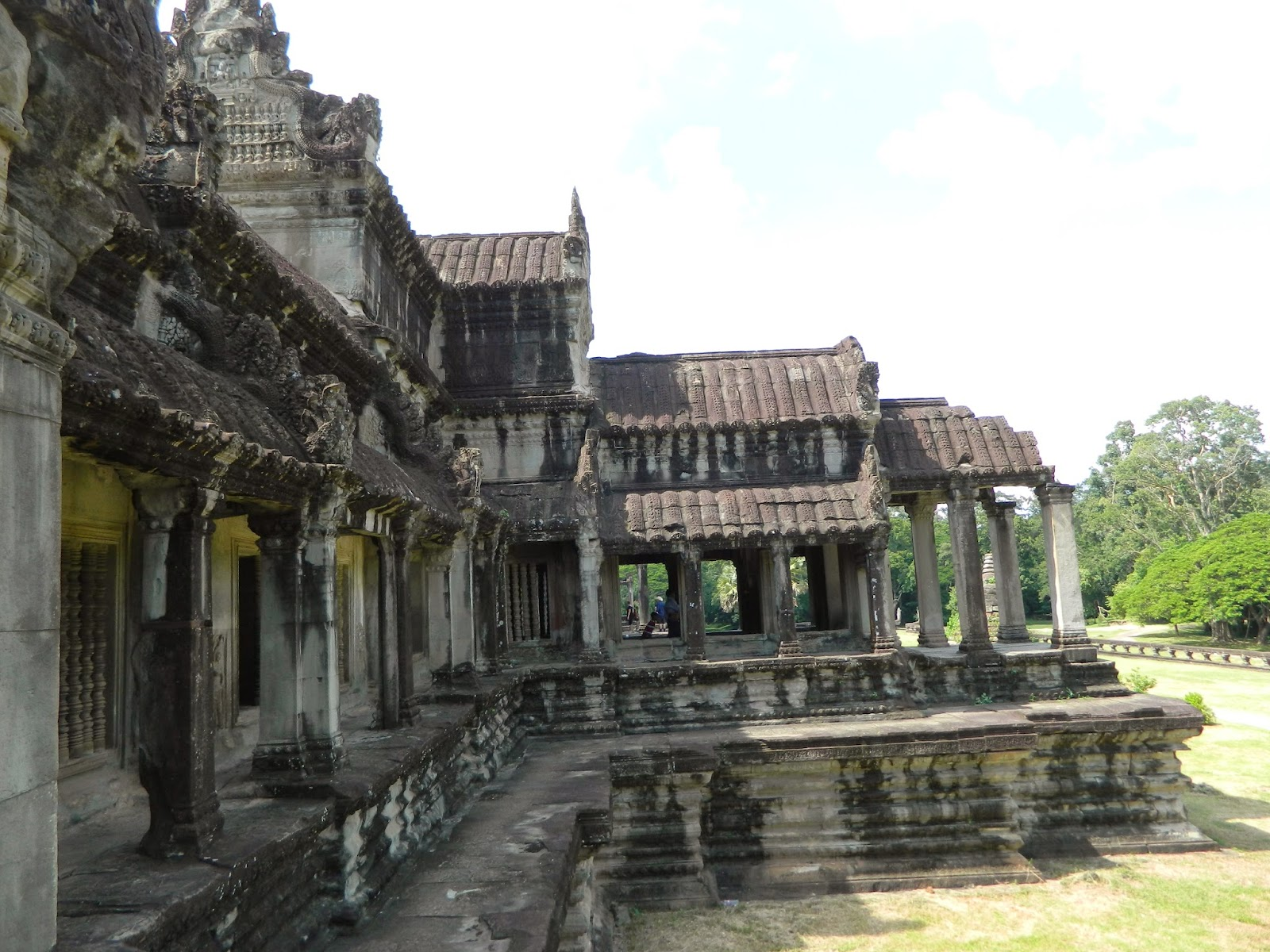 The gallery in the Angkor Wat