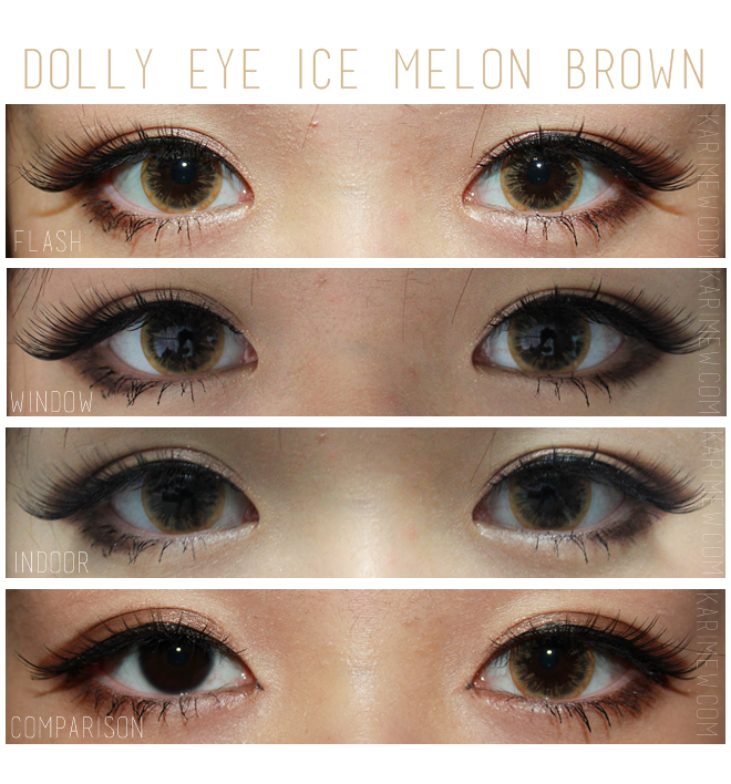 Dolly Eye Ice Melon brown colored contacts